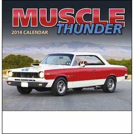 Muscle Thunder Stapled Calendar, English with Your Logo