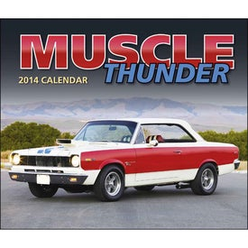 Muscle Thunder Stapled Calendar, English with Your Slogan