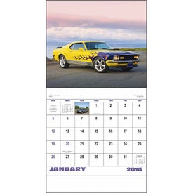 Monogrammed Muscle Thunder Stapled Calendar, English