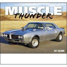 Customized Muscle Thunder Stapled Calendar, English