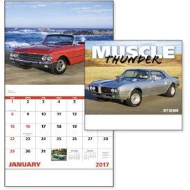 Company Muscle Thunder Stapled Calendar, English