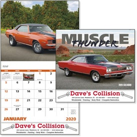 Muscle Thunder Stapled Calendar, English (2020)