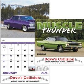 Advertising Muscle Thunder Stapled Calendar, English