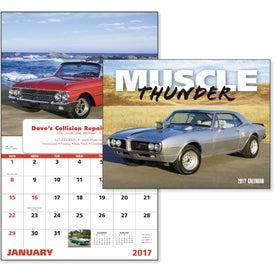 Monogrammed Muscle Thunder Window Calendar, English
