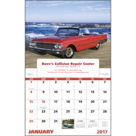 Muscle Thunder Window Calendar, English with Your Logo