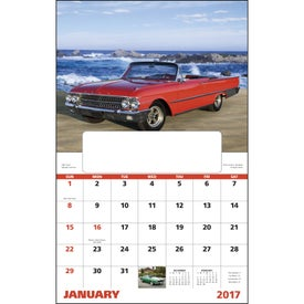 Muscle Thunder Window Calendar, English Printed with Your Logo