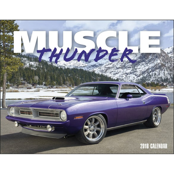 Muscle Thunder Window Calendar, English