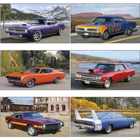 Monogrammed Muscle Cars - Executive Calendar