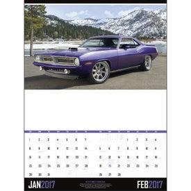 Printed Muscle Cars - Executive Calendar