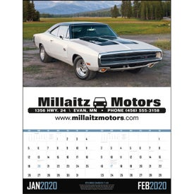 Muscle Cars - Executive Calendar (2020)