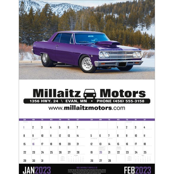 Muscle Cars - Executive Calendar