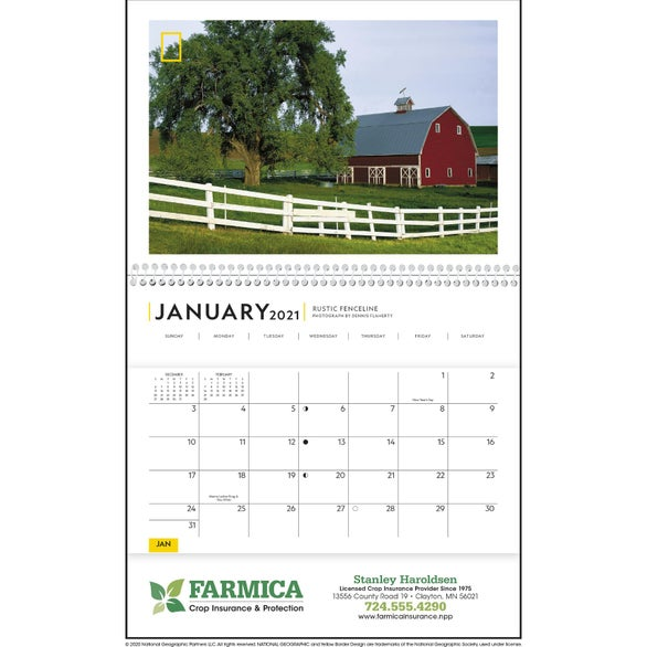See Item National Geographic Rural Scenes Pocket Calendar