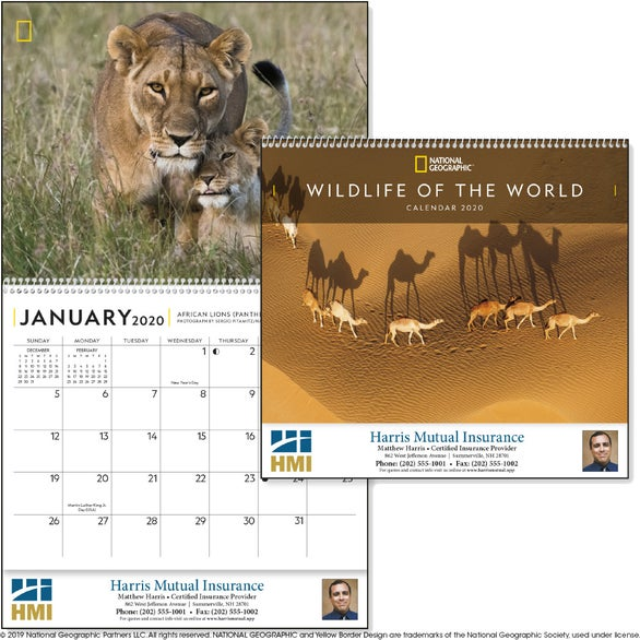 See Item National Geographic Wildlife of the World Calendar