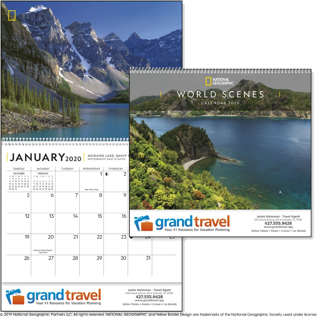 National Geographic World Scenes Calendar