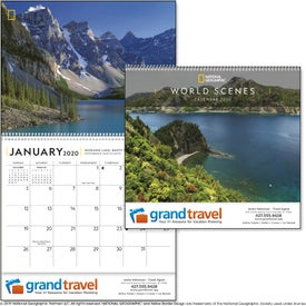 National Geographic World Scenes Calendar
