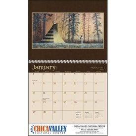 Imprinted Native American Art Appointment Calendar