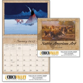 Native American Art Appointment Calendar Branded with Your Logo