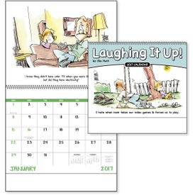 Printed Laughing It Up! Spiral Calendar