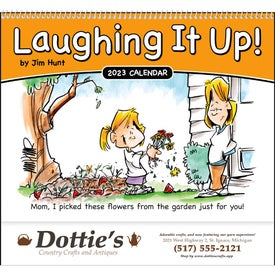 Custom Laughing It Up! Spiral Calendar