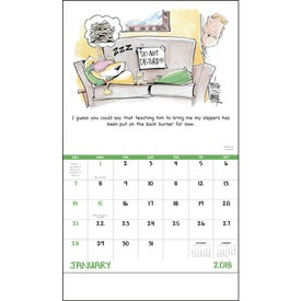 Branded Laughing It Up! Stapled Calendar