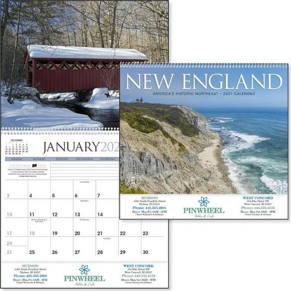 See Item New England Appointment Calendar