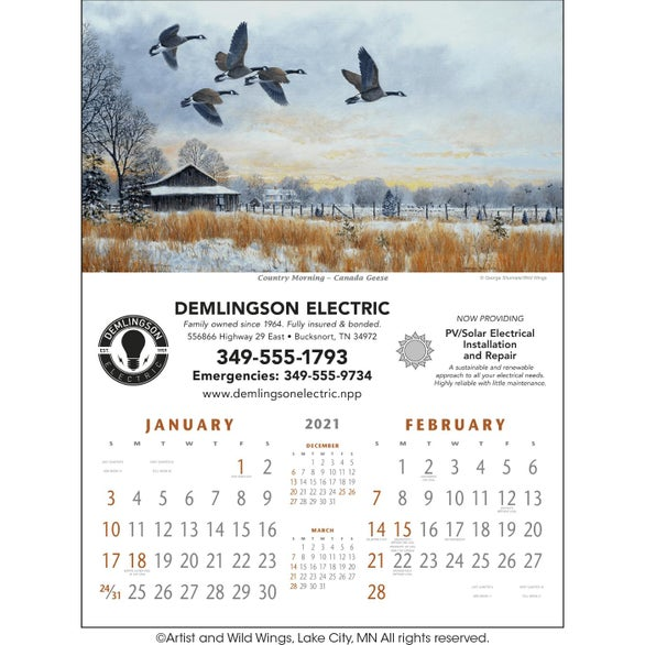 See Item North American Waterfowl Executive Calendar