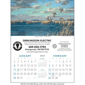 Personalized North American Waterfowl Executive Calendar
