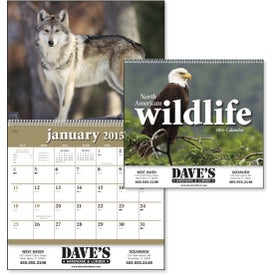 North American Wildlife Wall Calendar Printed with Your Logo