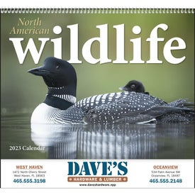 North American Wildlife Wall Calendar for Promotion