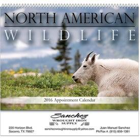 North American Wildlife Spiral Bound Calendar