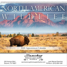 North American Wildlife Spiral Bound Calendar
