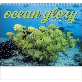 Ocean Glory Spiral Calendar Imprinted with Your Logo