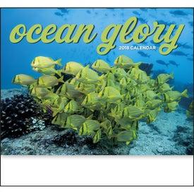 Imprinted Ocean Glory Stapled Calendar