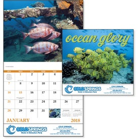 Advertising Ocean Glory Stapled Calendar