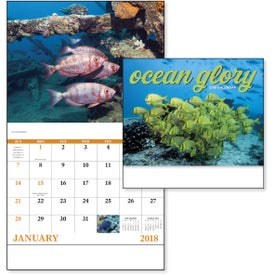 Ocean Glory Stapled Calendar Branded with Your Logo