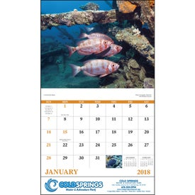 Ocean Glory Stapled Calendar Giveaways