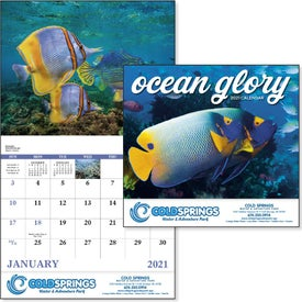 Printed Ocean Glory Stapled Calendar