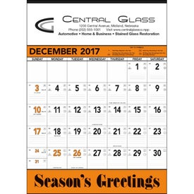 Orange and Black Contractors Memo Calendar for Your Company