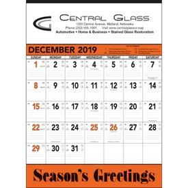 Orange and Black Contractors Memo Calendar (2020)
