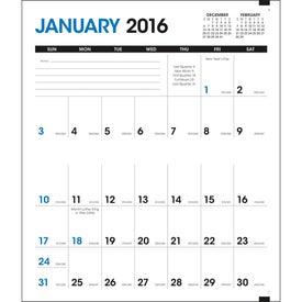 Monogrammed Pocket Planner with Custom Cover Calendar