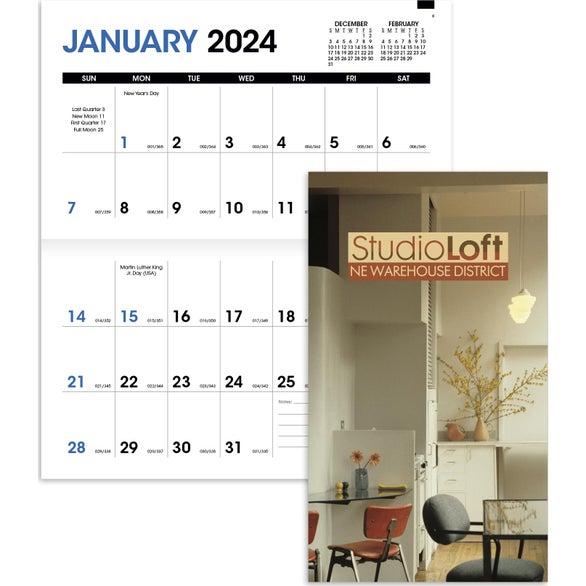 Calendar Planner Cover : Promotional pocket planner calendars with custom logo