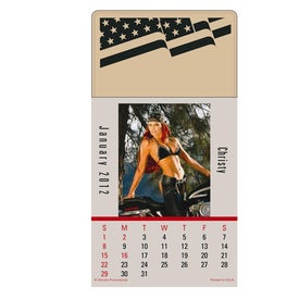 Press N Stick Biker Babes Calendar Pad
