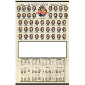 Imprinted Presidents Hanger Calendar