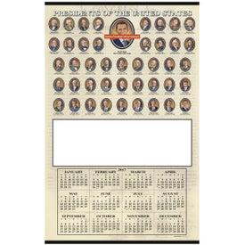 Imprinted Presidents Hanger Calendar