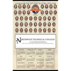 Advertising Presidents Hanger Calendar