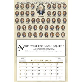 Presidents Hanger Calendar (Annual 12-Sheet, 2019)