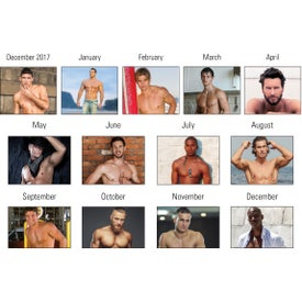 Press N Stick Male Call Calendar Pad for Your Organization