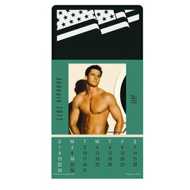 Monogrammed Press N Stick Male Call Calendar Pad