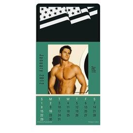 Monogrammed Press N Stick Male Call Calendar Pad