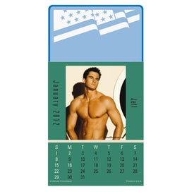 Press N Stick Male Call Calendar Pad Imprinted with Your Logo